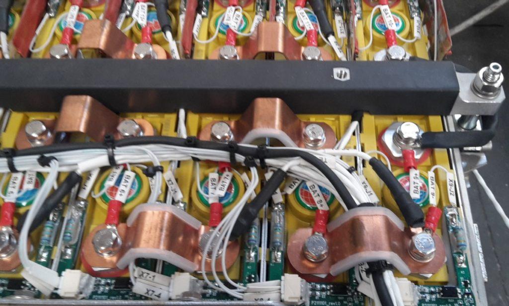 Dettaglio Cablaggio pacco Batterie