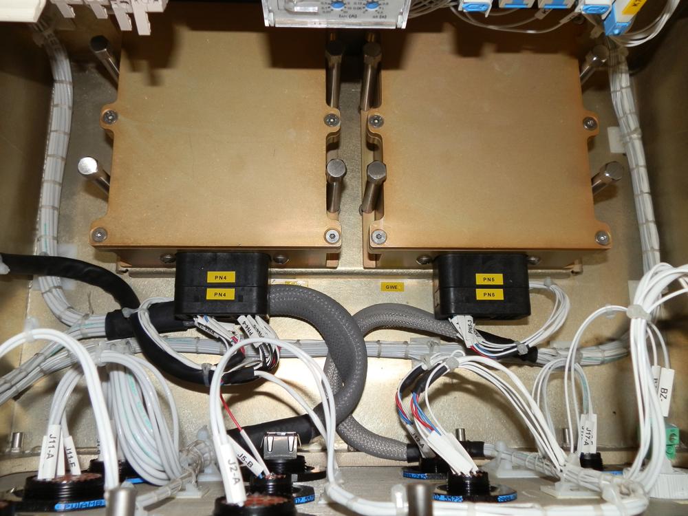Dettaglio quadro elettrico di un generatore di corrente